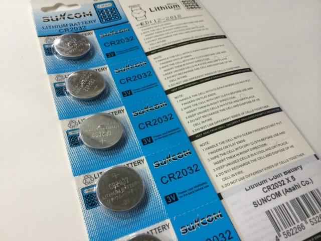 ランキング総合1位 スタンタードコイン型電池 suncom リチウムボタン電池 ばら売り メール便 ランキングTOP10 CR2032