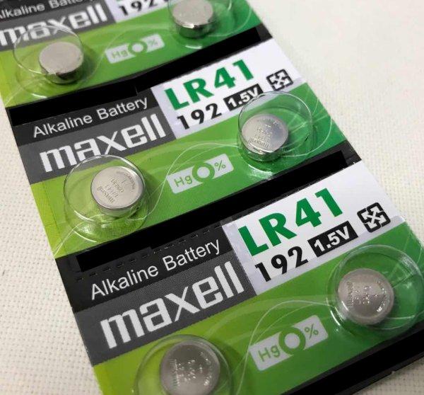 日本ブランド電池 長持ち高品質 代引き可 MAXELL マクセル 宅送 ギフ_包装 10P LR41 アルカリボタン電池 AG3 送料無料