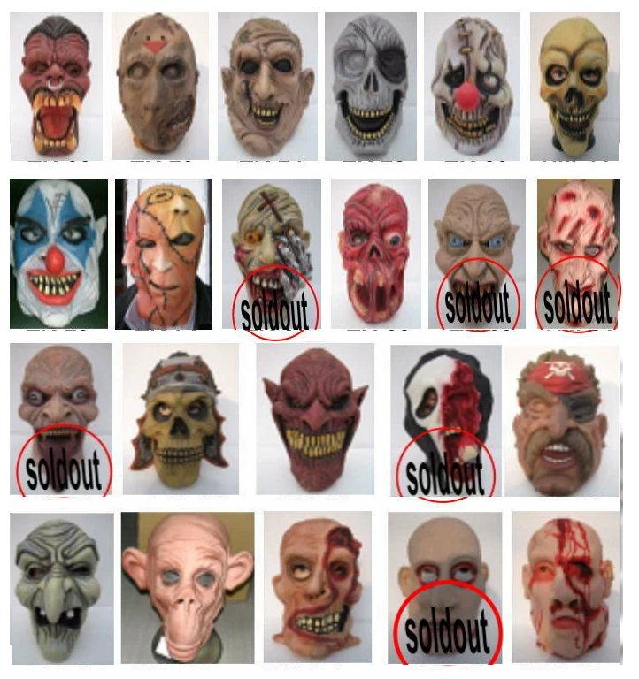 「ハロウィン仮装」リアル3Dゾンビマスク ホラーマスク5点よりどり【マイケルジャクソンのスリラーの仮装用】