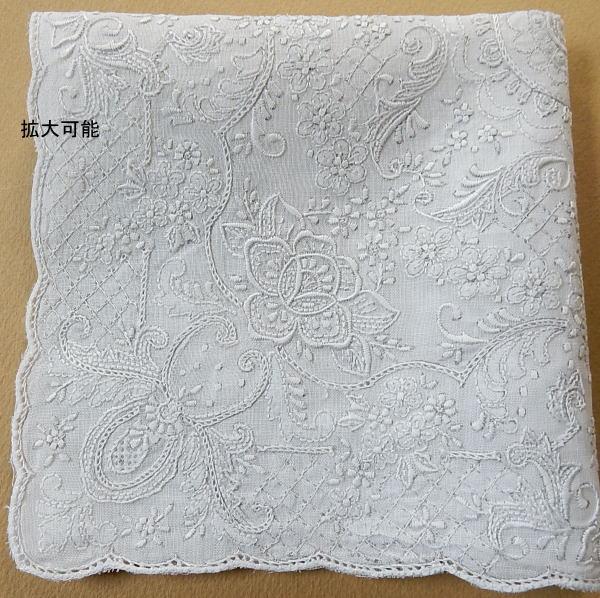 【新入荷品!】スワトウハンカチ綿100%・芸術品手刺繍ヴィンテージ花柄