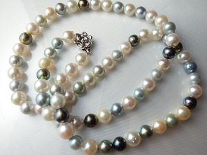 伊勢志摩産あこや本真珠6mm~7mm珠ネックレス約59cm・シルバー製クラスプ