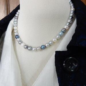 伊勢志摩産あこや本真珠7mm~7,5mm珠ネックレス約43cm・シルバー製クラスプ