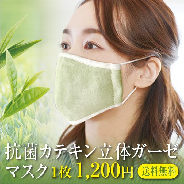 抗菌立体マスク 1枚 カテキン 銀イオン Ag 世界の人気ブランド メール便送料無料 期間限定お試し価格 オーガニックコットンガーゼ 綿100% 日本製 布マスク ポイント消化 大人 洗濯可能 抗菌 今治製 洗える
