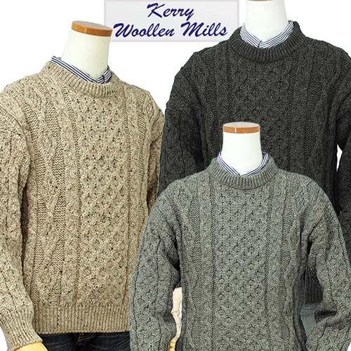 【全商品10%OFFクーポン】Kerry Woolen Millsアラン フィシャーマンセーターAran Fisherman Sweater【送料無料】【あす楽対応】