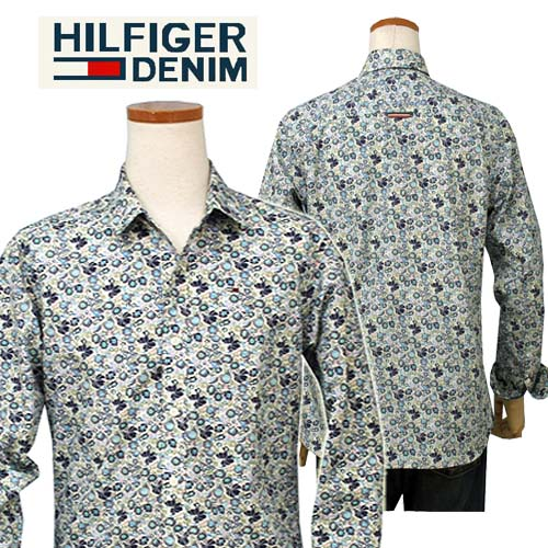 【全商品10%OFFクーポン】HILFIGER DENIM Tommy Hilfiger トーマス プリント長袖シャツ【2015-Fall/NewModel】【トミーヒルフィガー】【送料無料】