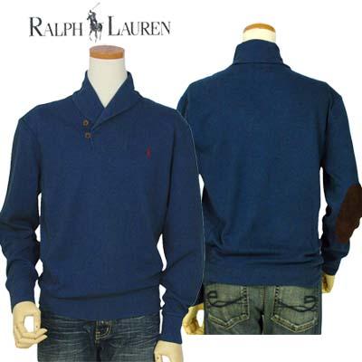 【全商品10%OFFクーポン】POLO by Ralph Lauren Men'sショールカラートレーナー【ラルフローレン】【送料無料】