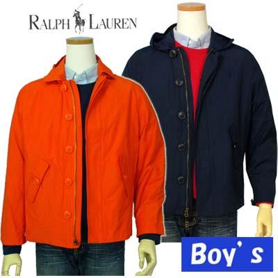 【全商品10%OFFクーポン】POLO by Ralph Lauren Boy'sフード付ウインドブレーカー【ラルフローレン ボーイズ】【送料無料】