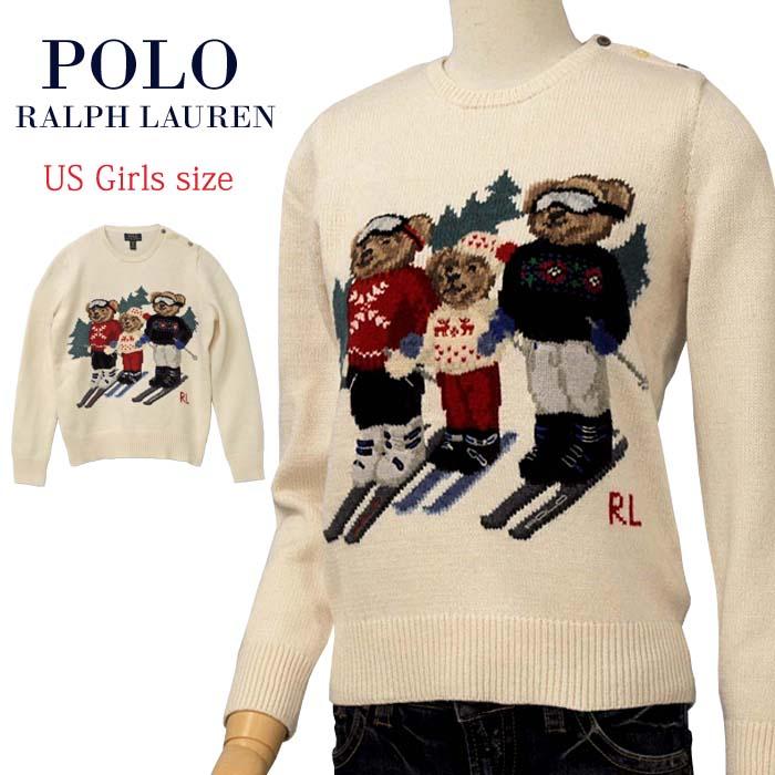 【全商品10%OFFクーポン】POLO by Ralph Lauren Girl'sポロベアー ウール混セーター【2019-Fall/NewModel】ポロベアーセーター送料無料 ギフト プレゼント