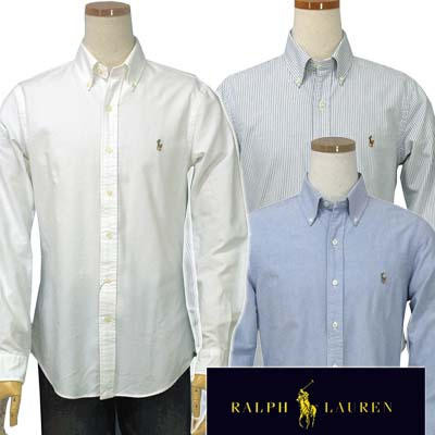 【全商品10%OFFクーポン】POLO by Ralph Lauren Men's長袖オックスフォードシャツ【SLIM FIT】【ラルフローレン】#7900053