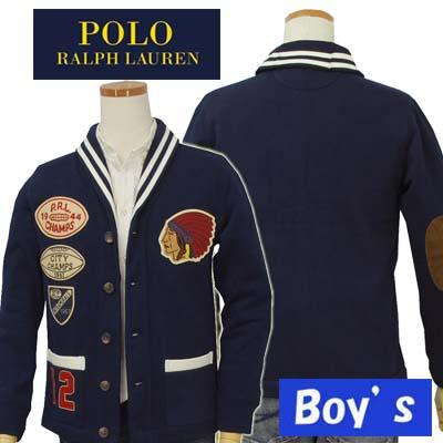 【全商品10%OFFクーポン】POLO by Ralph Lauren Boy'sアップリケ、ショールカラージャケット【ラルフローレン ボーイズ】