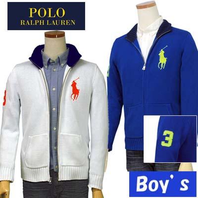 【全商品10%OFFクーポン】POLO by Ralph Lauren Boy'sラルフローレンビッグポニーフルジップセーター【ラルフローレン ボーイズ】