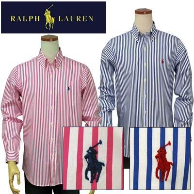 【全商品10%OFFクーポン】POLO by Ralph Lauren Men's長袖ストライプシャツ【2015-Spring/NewModel】XL,大きいサイズ【ラルフローレン】【送料無料】