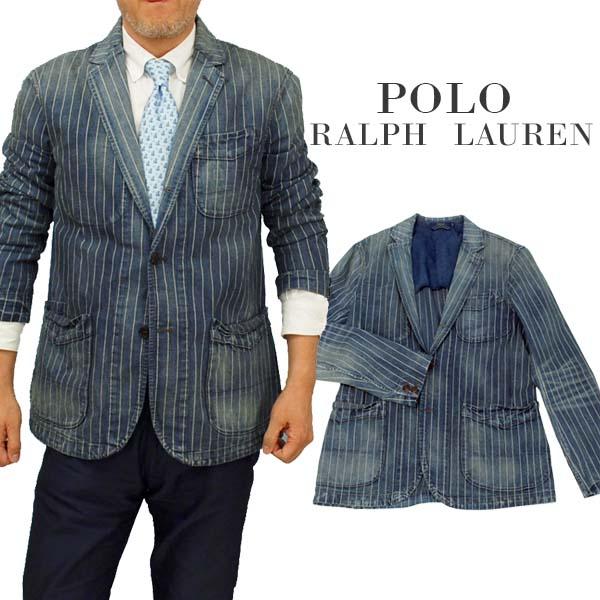 POLO by Ralph Lauren Men'sNEW ARTISANストライプ デニムブレザー【ラルフローレンMen's】【送料無料】