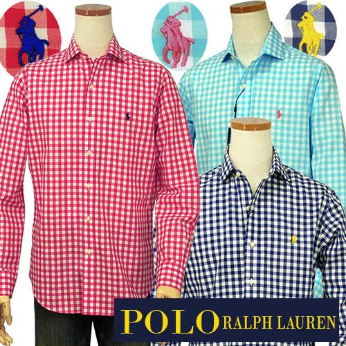POLO by Ralph Lauren Men'sギンガムチェック長袖シャツ【2016-Spring/NewModel】XL,大きいサイズ【ラルフローレンMen's】【送料無料】