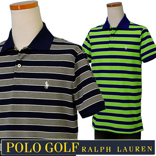 POLO GOLF Ralph Lauren Men's半袖 ボーダー鹿の子ポロシャツ【2017-Spring/NewColor】ラルフローレンXL,大きいサイズ【送料無料】