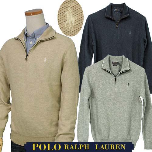 【全商品10%OFFクーポン】POLO by Ralph Lauren Men'sハーフジップ 鹿の子XL,大きいサイズ ラルフローレン ハーフジップ【送料無料】