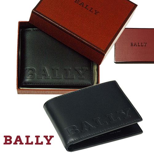 【全商品10%OFFクーポン】BALLY バリー BEVYE BOLD,二つ折り財布【イタリア製】【2018-Spring/NewModel】 ギフトボックス入りプレゼント、メンズ、レディース用、送料無料