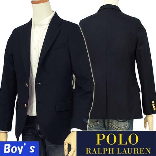 POLO by Ralph Lauren Boy's【イタリア製】ウール メタルボタン ネイビーブレザー【ラルフローレン ボーイズ】【送料無料】