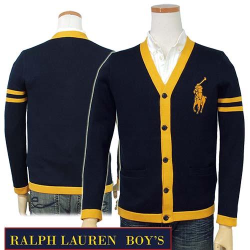 ★全商品10%OFFクーポン★POLO Ralph Lauren Boy'sビッグヒポニー カーディガンラルフローレン カーディガン