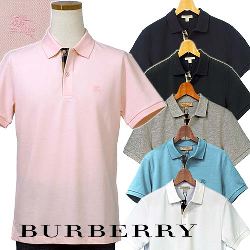 BURBERRYバーバリーMen'sポロシャツ【2018-NewColor】BURBERRY BRIT半袖鹿の子ポロシャツ英国 直輸入商品#3956001,3982074、4010695,4010694送料無料プレゼント