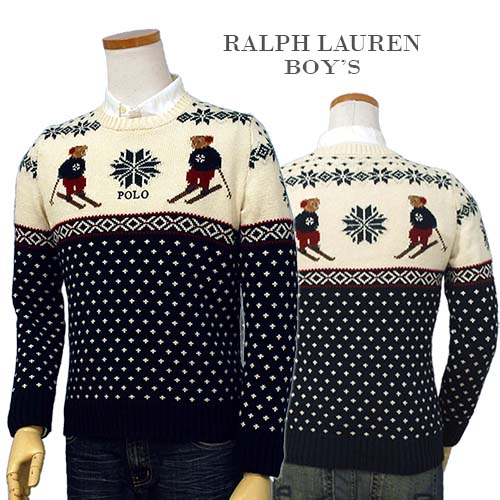 POLO by Ralph Lauren Boy'sポロベアーノルディック柄 セーター【2018-Fall/NewModel】ラルフローレン ポロベアー セーター