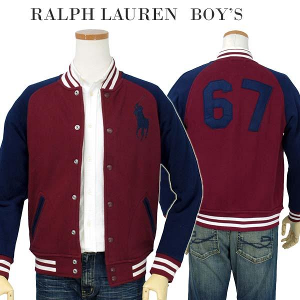 【全商品10%OFFクーポン】POLO by Ralph Lauren Boy'sビッグポニー ベースボールジャケット【2015-Fall/NewColor】【ラルフローレン ボーイズ】【送料無料】