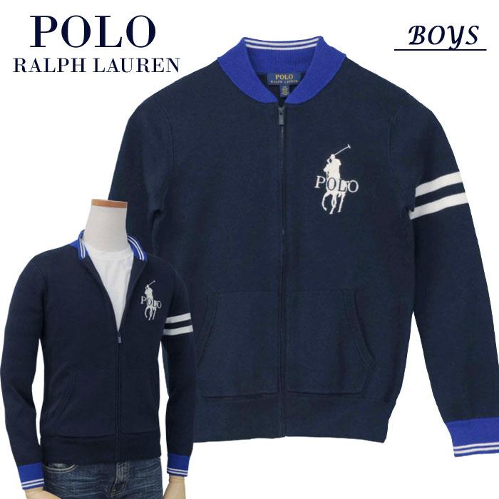 【全商品10%OFFクーポン】POLO by Ralph Lauren Boy'sビッグポニーフルジップセーター【2019-Fall/NewModel】ラルフローレン ビッグポニーセーター送料無料