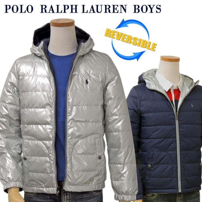 【全商品10%OFFクーポン】POLO by Ralph Lauren Boy'sリバーシブル ダウンジャケット【2019/21-Fall/NewModel】ラルフローレン ダウンジャケット