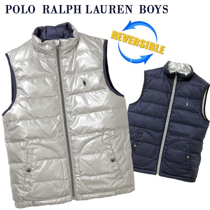 【全商品10%OFFクーポン】POLO by Ralph Lauren Boy'sリバーシブル ダウンベスト【2019-Fall/NewModel】ラルフローレン ダウンベスト