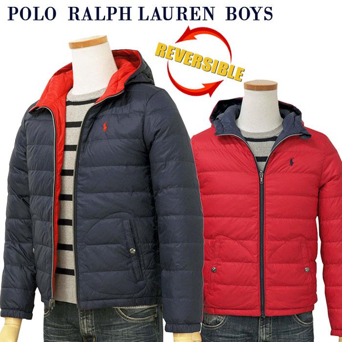 【全商品10%OFFクーポン】POLO by Ralph Lauren Boy'sリバーシブル ダウンジャケット【2019-Fall/NewModel】ラルフローレン ダウンジャケット