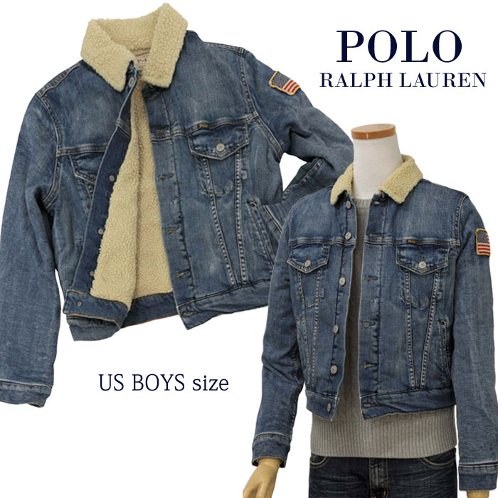 【全商品10%OFFクーポン】POLO by Ralph Lauren Boy'sボア付シェルパジャケット【2019-Fall/NewModel】ラルフローレン デニムジャケット送料無料