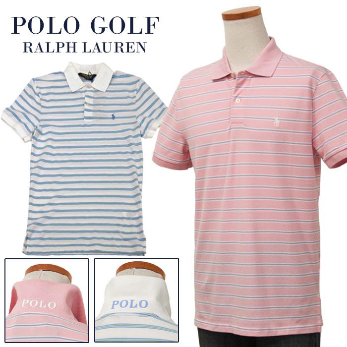 【全商品10%OFFクーポン】POLO GOLF Ralph Lauren Men's半袖 ボーダー鹿の子ポロシャツ【2019-Spring/NewColor】ラルフローレンXL,大きいサイズ【送料無料】