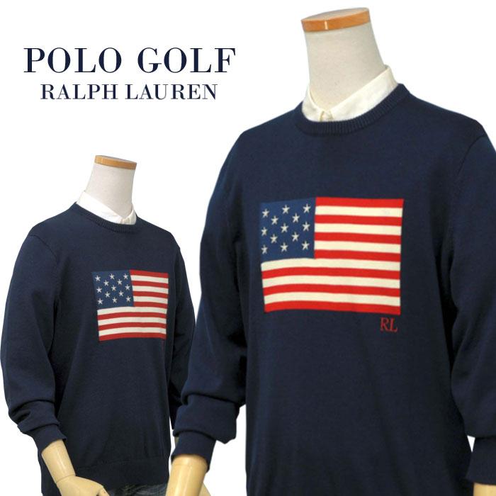 【全商品10%OFFクーポン】POLO GOLFby Ralph Lauren Men'sUSフラッグ クルーネックセーター【2019-Fall/NewModel】【ポロ ラルフローレン】送料無料
