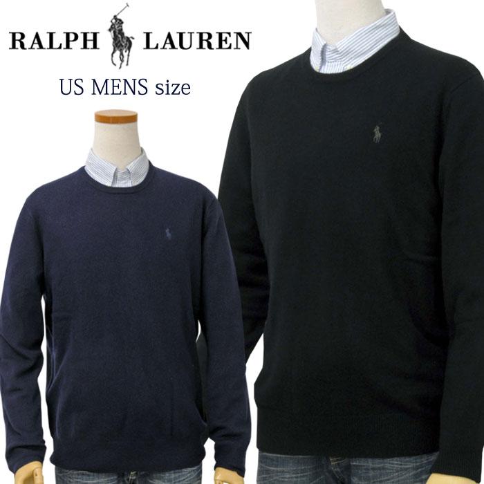 【全商品10%OFFクーポン】POLO by Ralph Lauren Men'sカシミヤ100% クルーネックセーターXL,大きいサイズ ラルフローレン セーター【2019-Fall/NewModel】【送料無料】
