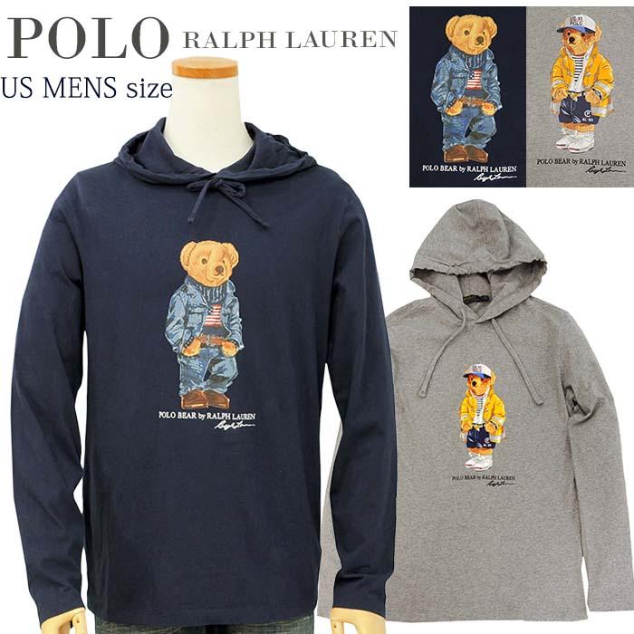【全商品15%OFFクーポン】POLO by Ralph Lauren Men'sポロベアー 長袖 Tパーカー【2020-Spring/NewModel】【ポロベアーパーカー】【送料無料】