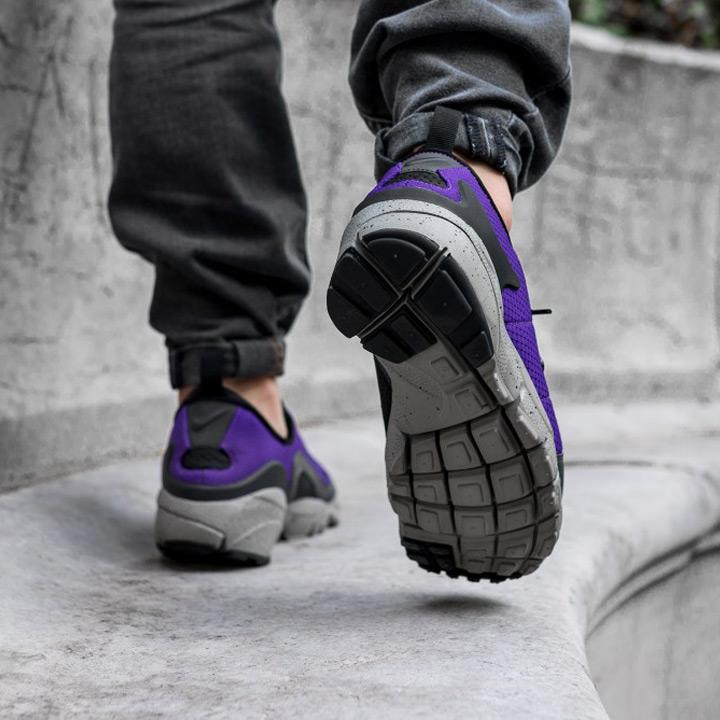 newest 512a2 31318 NIKE  Nike sneakers AIR FOOTSCAPE NM  air feet cape 852629 500 purple X  black