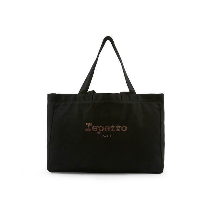 送料無料 シンプル可愛いトートバッグ repetto レペット 限定価格セール セール 登場から人気沸騰 BALLERINE コットンキャンバストートバッグ ブラック