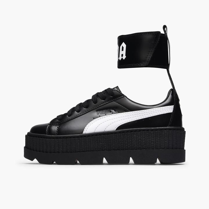 cheaper 31379 a5826 FENTY PUMA by Rihanna / フェンティプーマバイリアーナアンクルストラップスニーカー Wmns Ankle Strap  Sneaker 366,264-03 black X white