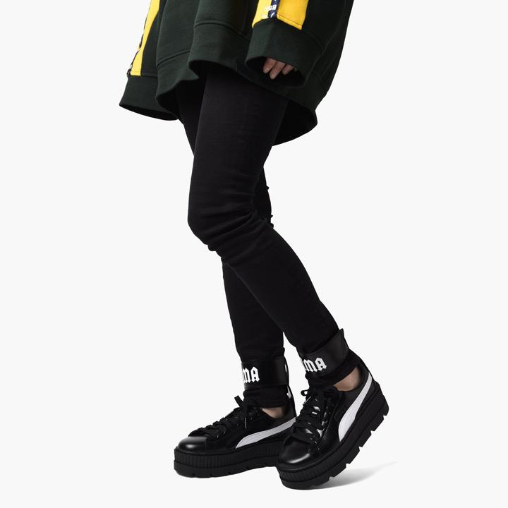 cheaper b277c 5ec59 FENTY PUMA by Rihanna / フェンティプーマバイリアーナアンクルストラップスニーカー Wmns Ankle Strap  Sneaker 366,264-03 black X white
