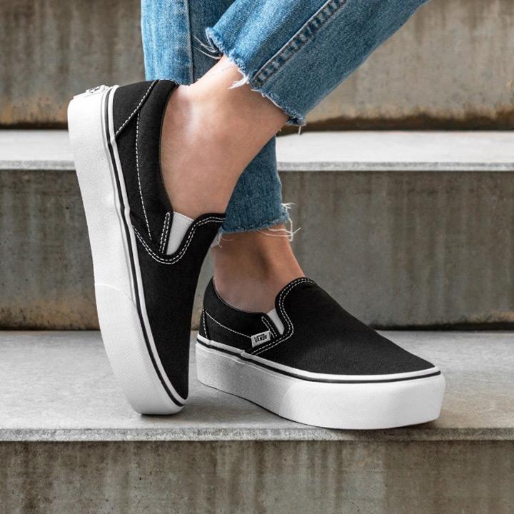 VANS / vans sneakers CLASSIC SLIP-ON PLATFORM / classical music slip-ons platform VN00018EBLK black