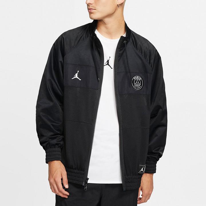 送料無料 ジョーダン×PSGのコラボジャケット Nike Jordan x Paris Saint-Germain 格安激安 結婚祝い PSG スーツジャケット ナイキ BQ8369-010 ジョーダン パリサンジェルマン ブラック ×
