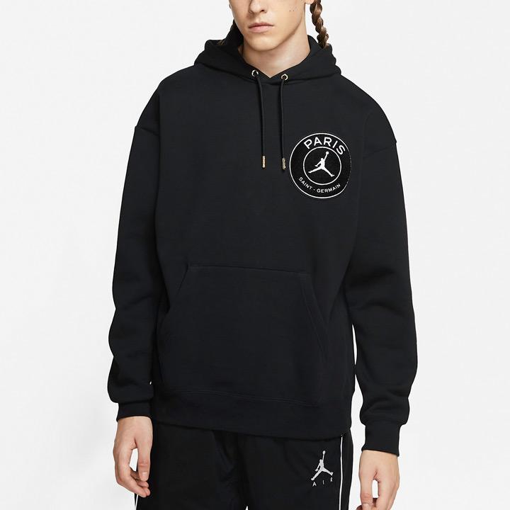 送料無料 ジョーダン×PSGのコラボフーディー Nike Jordan x Paris Saint-Germain PSG 別倉庫からの配送 ナイキ ジョーダン CV9904-010 TAPED HOODIE ブラック パリサンジェルマン プルオーバーパーカー 大幅にプライスダウン テープドフーディ