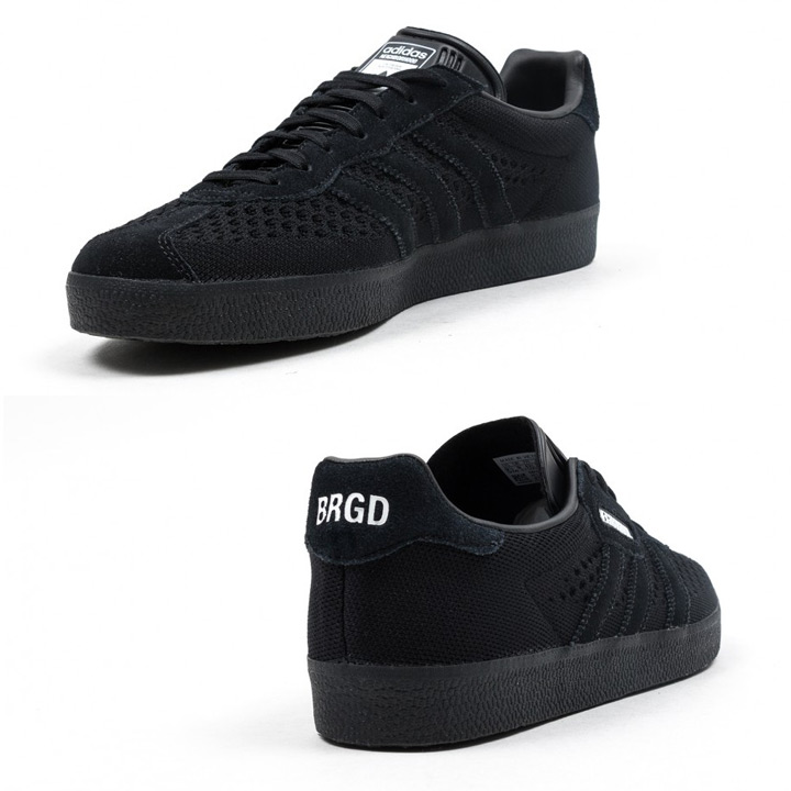 ADIDAS X NEIGHBORHOOD Adidas X Ney bar Hood sneakers GAZELLE SUPER NBHD gazelle DA8836 black