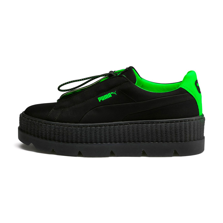 detailed pictures a8105 2c37f PUMA X Fenty by Rihanna / Puma X フェンティバイリアーナスニーカー Wmns Cleated Creeper Surf  / chestnut ray Ted creeper surf 367,681-03 black X green