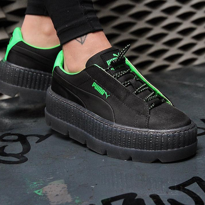 detailed pictures 839b4 db96f PUMA X Fenty by Rihanna / Puma X フェンティバイリアーナスニーカー Wmns Cleated Creeper Surf  / chestnut ray Ted creeper surf 367,681-03 black X green
