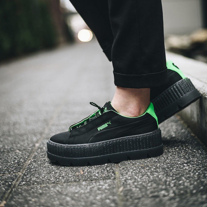 detailed pictures 3f801 c0f39 PUMA X Fenty by Rihanna / Puma X フェンティバイリアーナスニーカー Wmns Cleated Creeper Surf  / chestnut ray Ted creeper surf 367,681-03 black X green