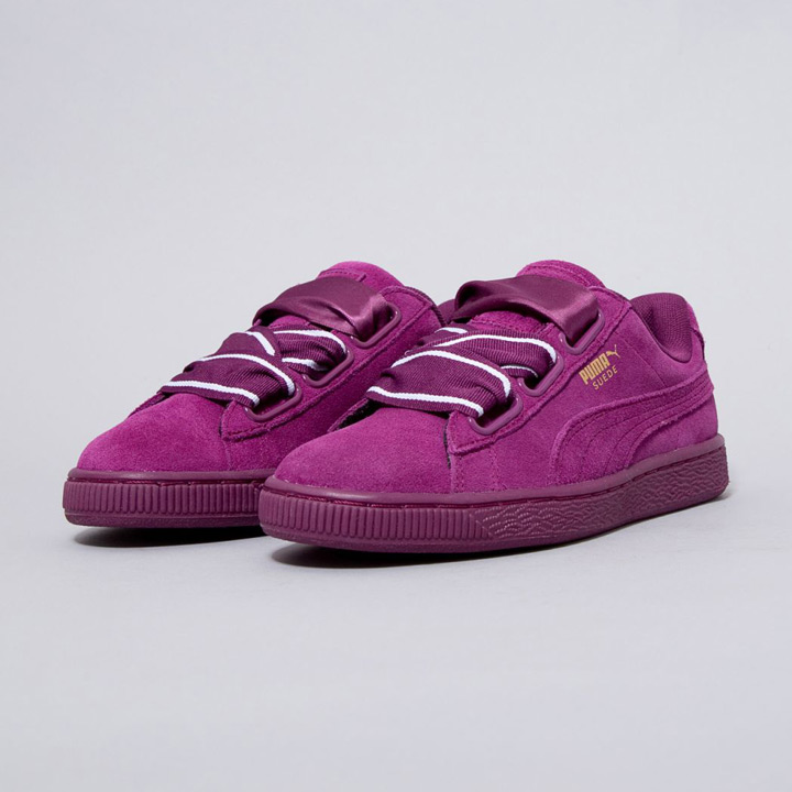 purchase cheap d6af4 7d9be PUMA / Puma sneakers Wmns SUEDE HEART SATIN 2 / suede heart satin  364,084-02 dark purple
