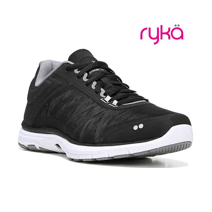 激安挑戦中 送料無料 ダンス エクササイズ フィットネスに最適シューズ RYKA ライカ フィットネスシューズ ダイナミック ブラック 2.5 DYNAMIC 商い E6543M-1001