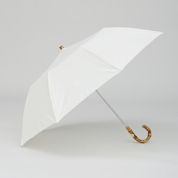 Traditional Weatherwear / トラディショナルウェザーウェア 晴雨兼用折りたたみ傘 FOLDING UMBRELLA BAMBOO GOLD ホワイト