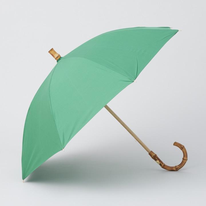 Traditional Weatherwear / トラディショナルウェザーウェア 晴雨兼用長傘 UMBRELLA BAMBOO GOLD ブライトグリーン